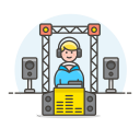 Dj booth icon