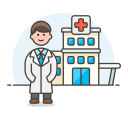 Doctor hospital icon