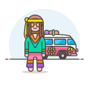 Hippie male icon