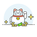 Lucky cat money icon