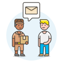 Postman receive letter icon