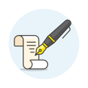 Write-paper-ink icon