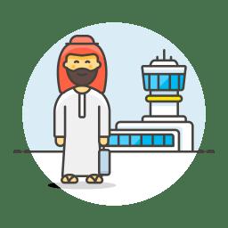 Arab male travel icon