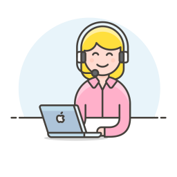 Customer service woman icon