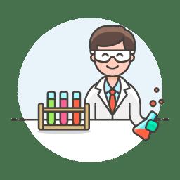 Lab scientist icon