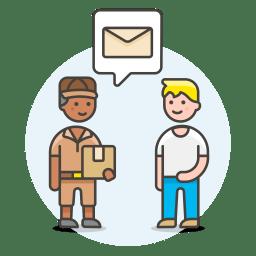 Postman receive letter icon