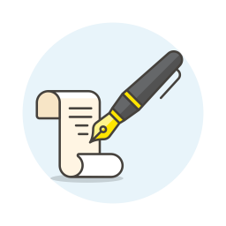 Write paper ink icon