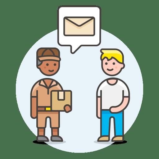 Postman-receive-letter icon
