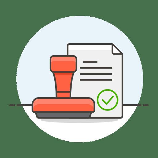 Stamp-document icon