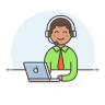 Customer-service-man icon