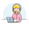 Customer-service-woman icon