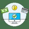 Monitor-cash-credit-card icon