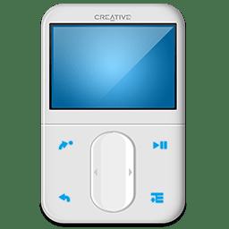 Creative Zen White Front icon