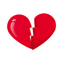 Heart broken icon