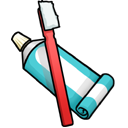 Toothpaste Toothbrush icon