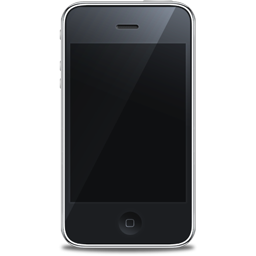 iPhone front black icon