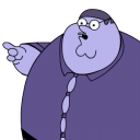 Peter Griffin Blueberry zoomed icon