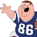 Peter Griffin Football zoomed icon