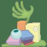 Monster-trash-full icon