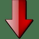 Fleche bas rouge icon