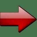Fleche droite rouge icon