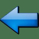 Fleche gauche bleue icon
