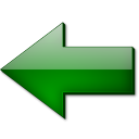 Fleche gauche vert icon