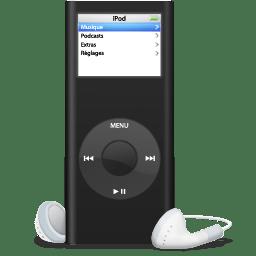iPod nano noir icon