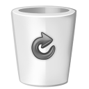Bin white full icon