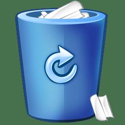 Bin blue icon