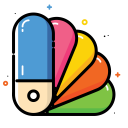 Color catalog icon
