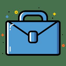 Briefcase bag icon