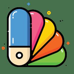 Color catalog icon