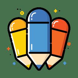 Colorful pencil icon