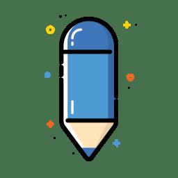 Pencil blue icon
