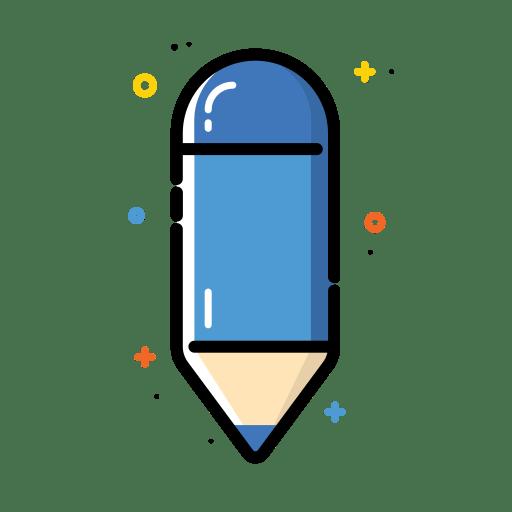 Pencil-blue icon