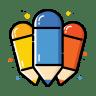 Colorful-pencil icon