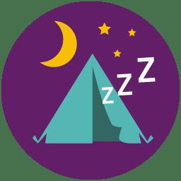 Tent Sleep icon