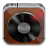 Music player wood icon