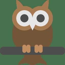 Owl Icon Flat Free Sample Iconset Squid Ink