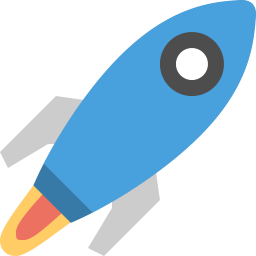 Space Rocket Icon Flat Free Sample Iconset Squid Ink