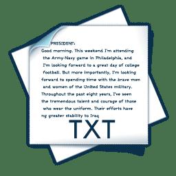Filetype txt icon