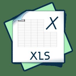 Filetype xls icon