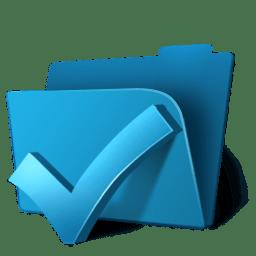 Folder ok icon