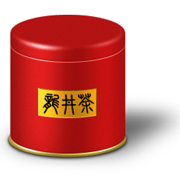 Tea caddy box icon