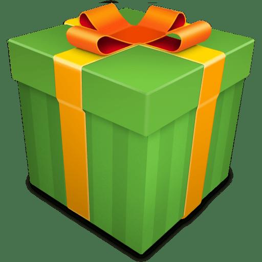 Christmas Gift green icon