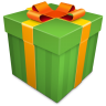 Christmas-Gift-green icon