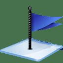 Windows 7 flag blue icon
