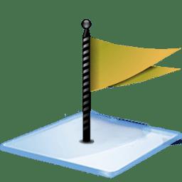 Windows 7 flag yellow icon