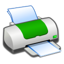 Hardware Printer Green icon
